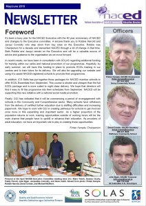 Client news: NACED newsletter completed